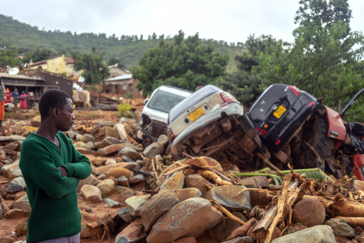Widespread destruction caused by flash floods in Chimanimani. [Zinyange Auntony/AFP]