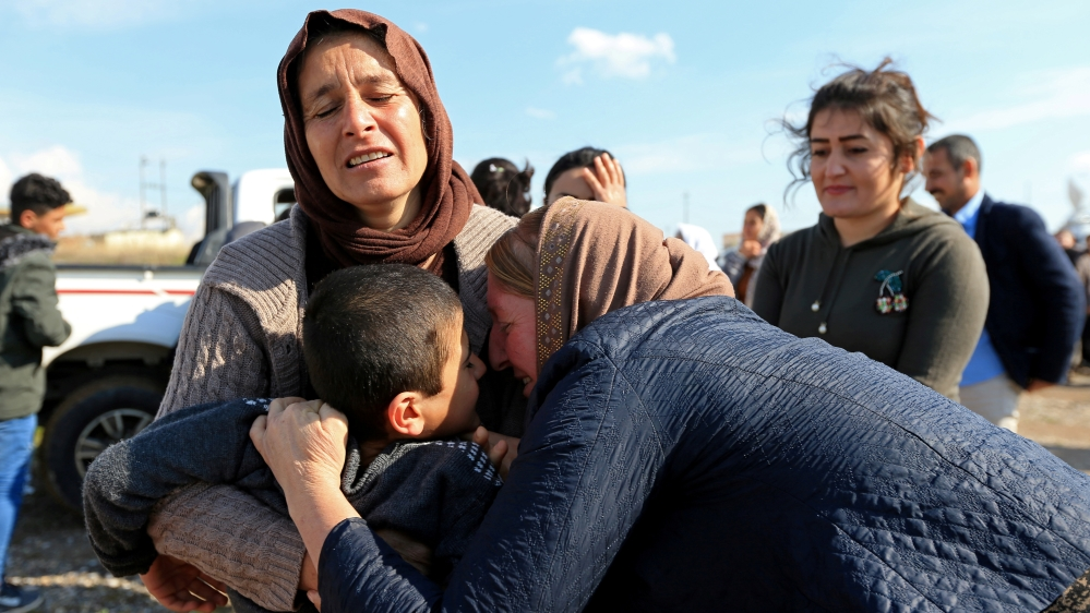 Yazidis held captive by ISIL reunite with their families in Iraq thumbnail