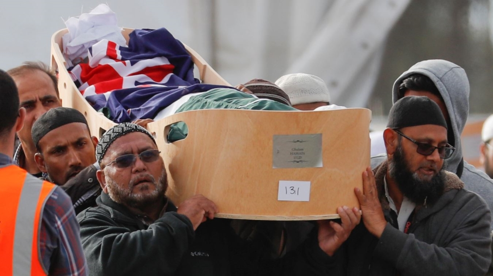 Christchurch mosque attack victims laid to rest in mass burial - Aljazeera.com thumbnail