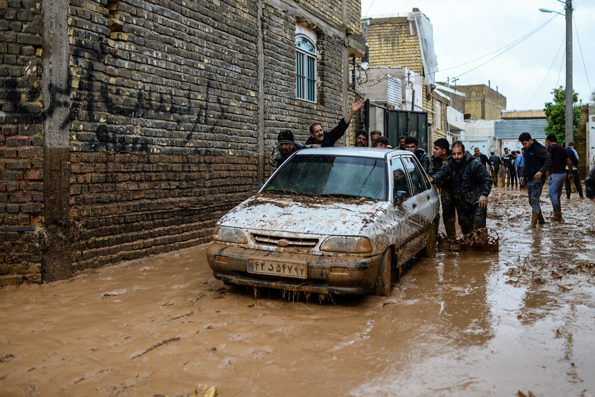 Iran has seen a decades-long drought but the latest flooding has also been blamed on widespread disregard for safety measures and construction of buildings and roads near the rivers. [Tasnim News Agency/Reuters]