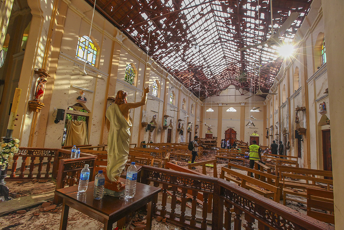More than 500 people have been injured in the worst attack since the end of the civil war 10 years ago. [Chamila Karunarathne/AP Photo]