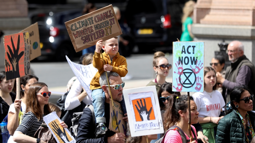 Extinction Rebellion climate change march on International Mothers' Day in London