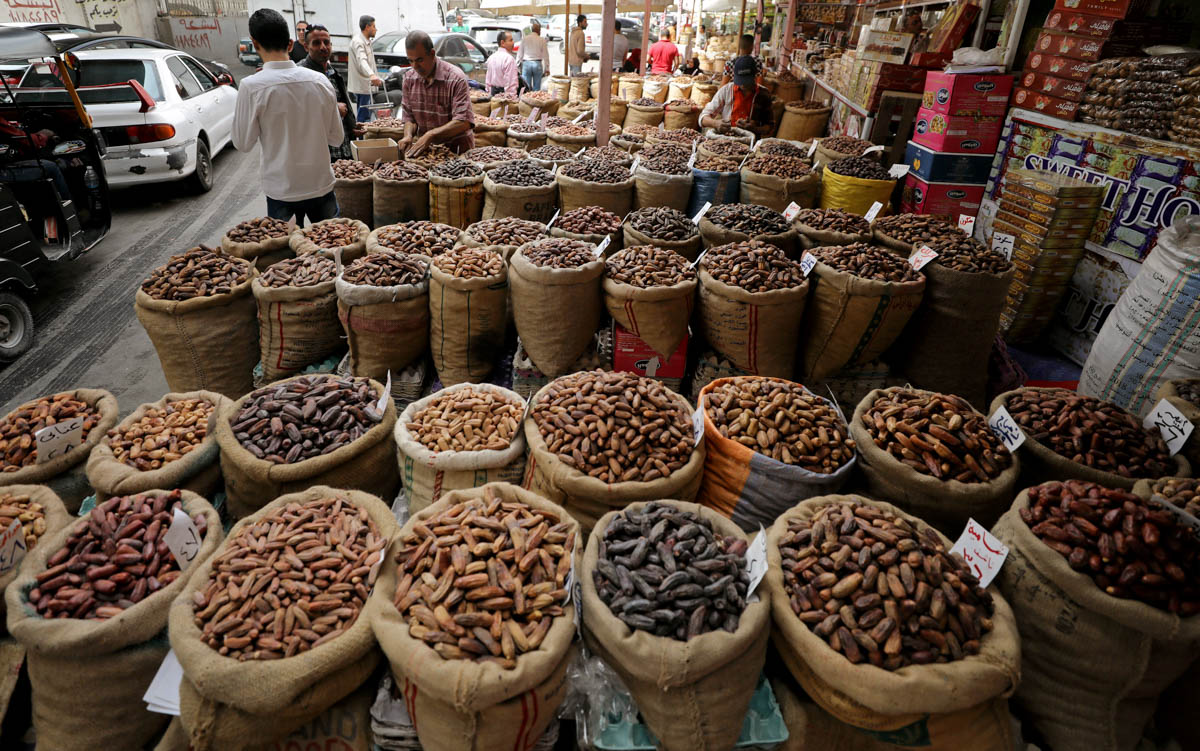 Dates sold at a market in Cairo, Egypt. [Mohamed Abd El Ghany/Reuters]
