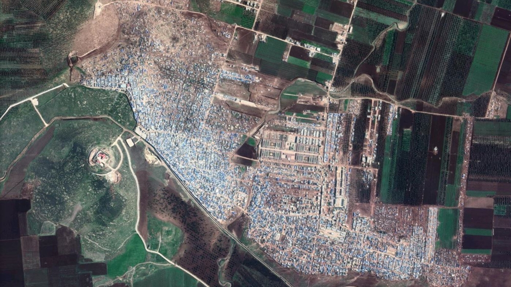 Syria's Atmah hosts several refugee camps - clusters of tent cities