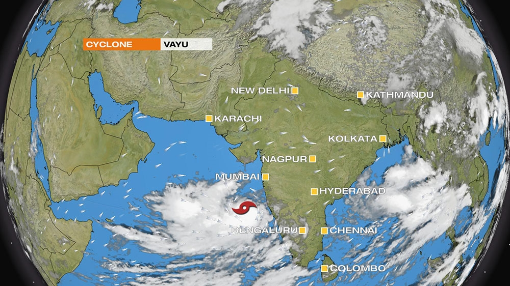 Cyclone Vayu poised to hit India as year's second major