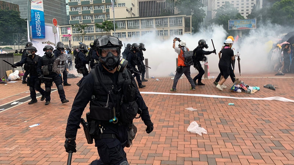 Hong Kong protests [Euan McKirdy/Al Jazeera]