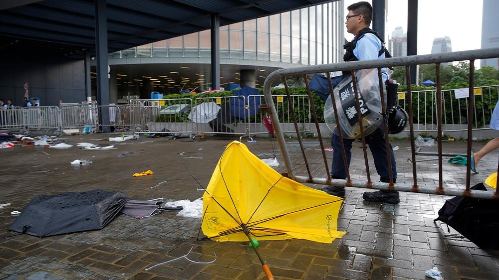 Hong Kong day after clean up