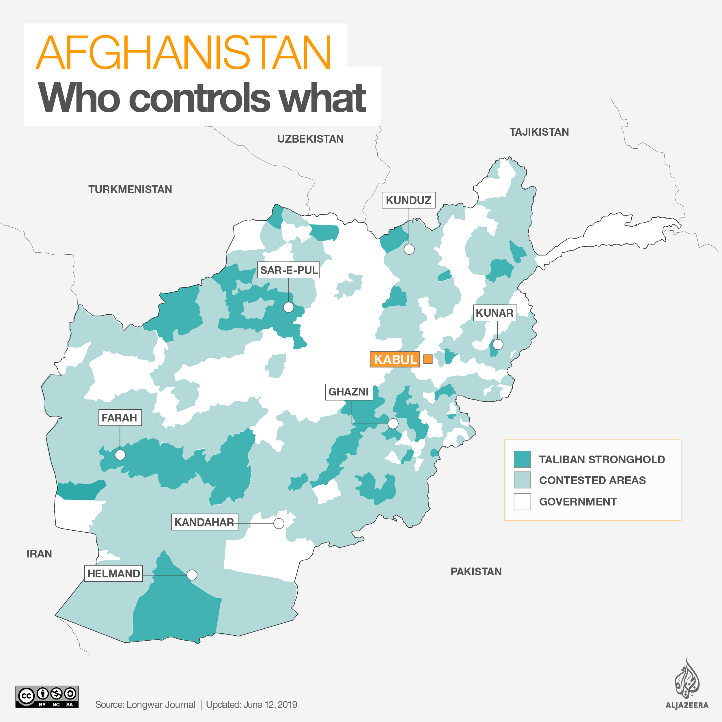 INTERACTIVE: Afghanistan control map June 2019