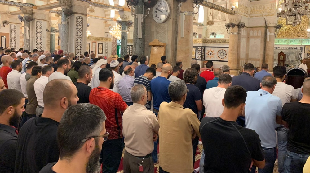 Funeral prayer in absentia for Mohamed Morsi in Jerusalem