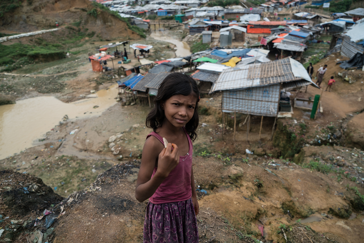 Refugees originating from Myanmar represented the fourth largest population group by country. By the end of 2018, Myanmar's displaced, including hundreds of thousands of Rohingya, stood at 1.1 million. [Sorin Furcoi/Al Jazeera]