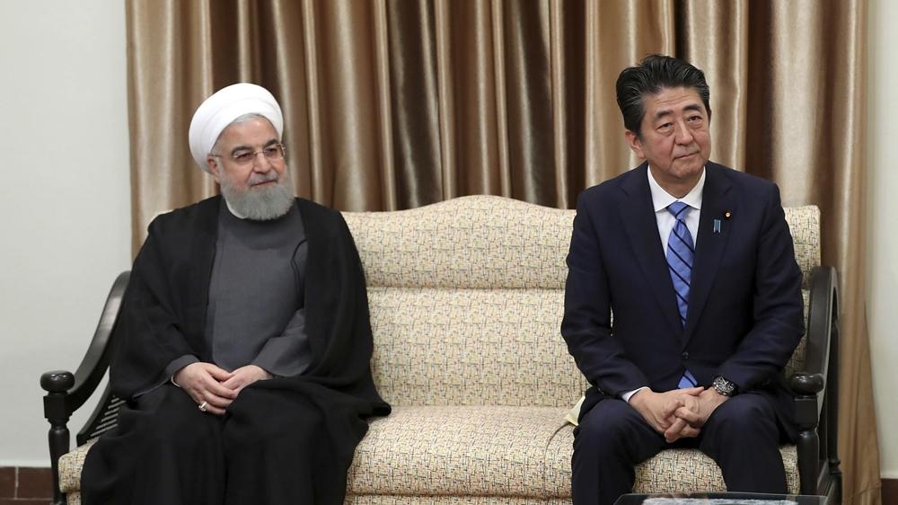 Shinzo Abe Hassan Rouhani Japan Iran