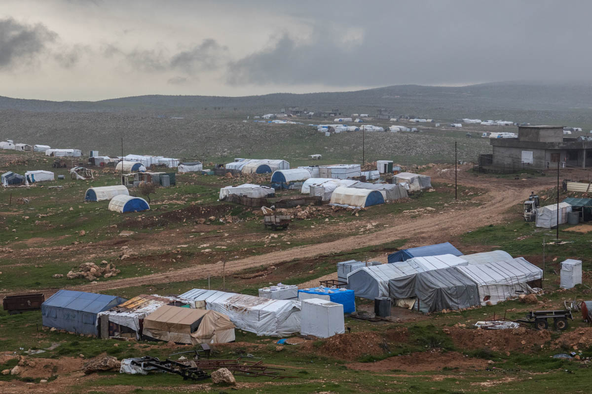 Displaced refugee camp on mount Sinjar. Many Yazidis hid in the mountain during the ISIL occupation in 2014. Many are still displaced there. [Alessio Mamo/Al Jazeera]