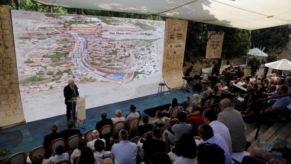 U.S. envoys attend the inauguration of a Jewish heritage site in East Jerusalem
