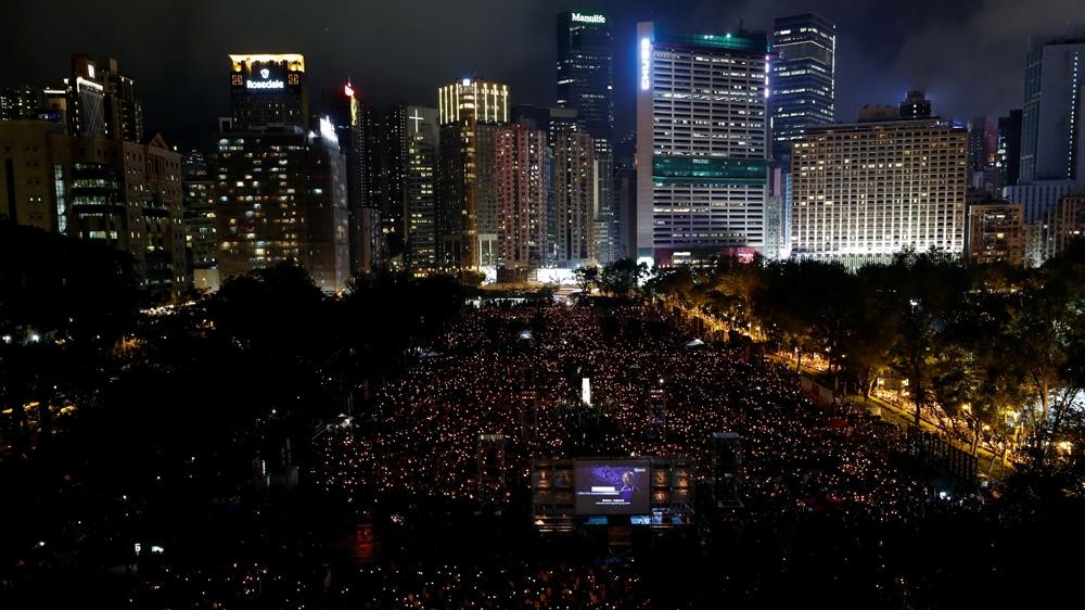 Massive crowds at Hong Kong Tiananmen vigil on 30th anniversary