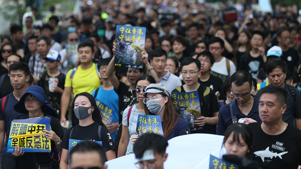 Thousands Back On Hong Kong Streets To Keep Up Pressure
