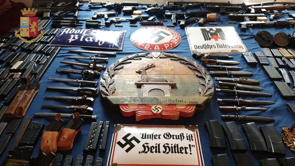 Italian arrests linked to neo-fascists after stash of weapons uncovered