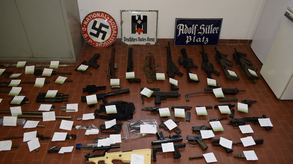 Italian police find huge stash of weapons during far-right investigation