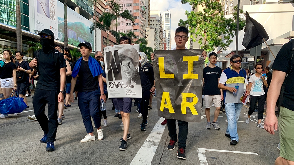 Hong Kong protests 21 July 2019 [Casey Quackenbush/Al Jazeera]