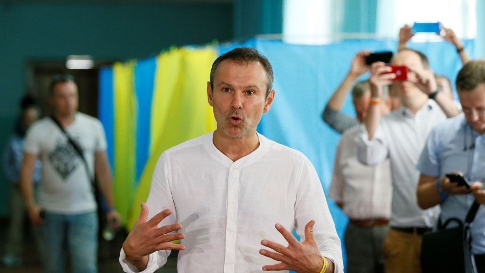 Ukrainian musician and leader of the Voice party Sviatoslav Vakarchuk