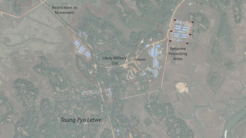 Rights groups say that the prison-like features of Taung Pyo Letwe refugee reception centre raise concerns about the appropriateness of facilities being built to welcome returning refugees.