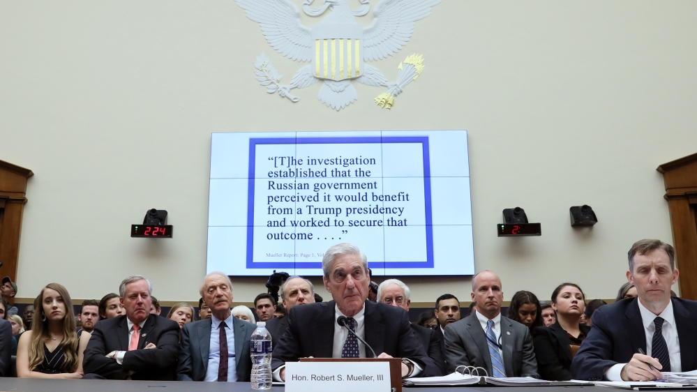 Former Special Counsel Robert Mueller testifies before a House Judiciary Committee hearing on the Office of Special Counsel's investigation into Russian Interference in the 2016 Presidential Election