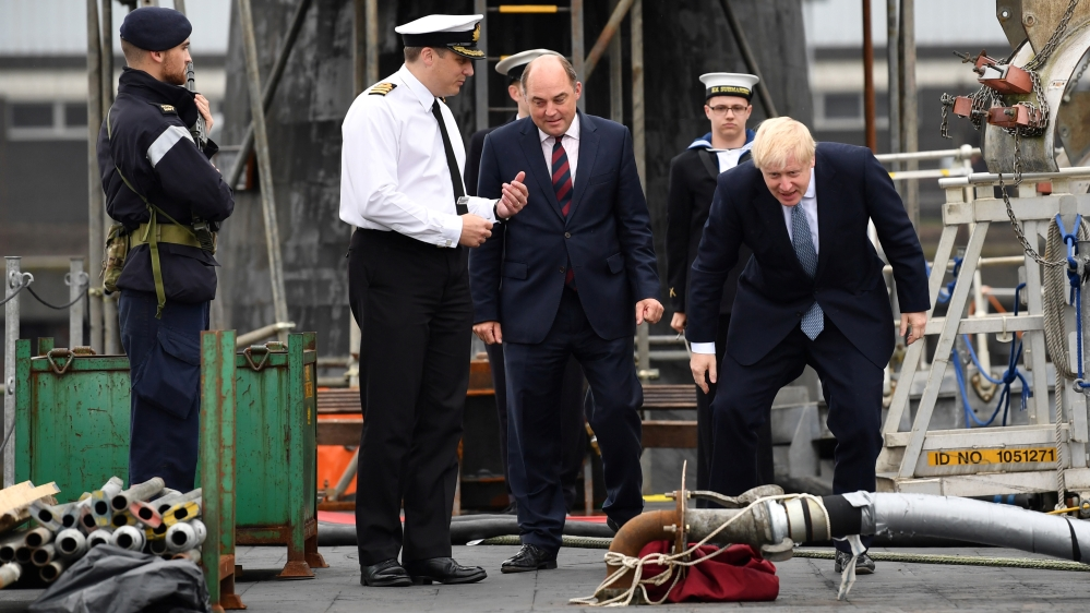 Britain's Prime Minister Boris Johnson visits in Scotland