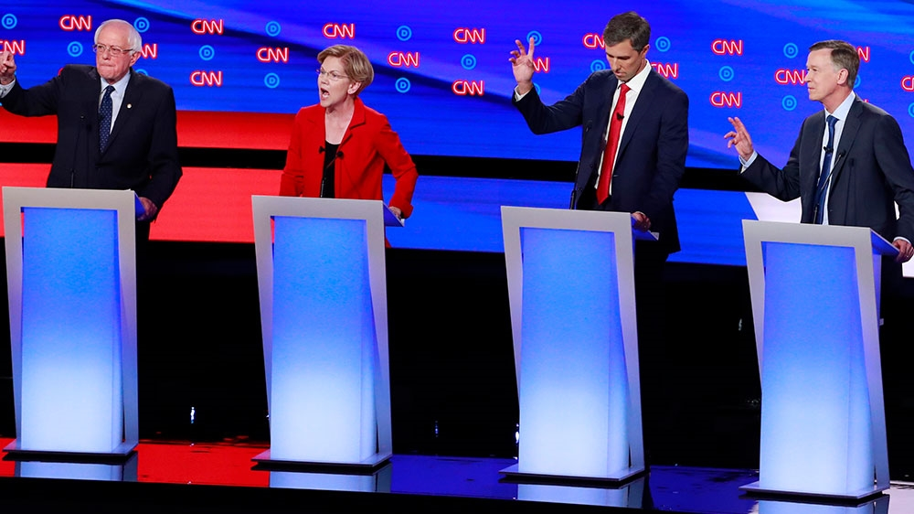 Second US Democratic debate night one: What did candidates say? thumbnail