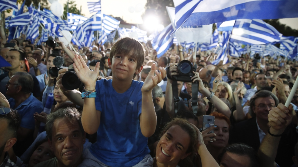Polls show opposition conservatives on path to victory in Greek elections