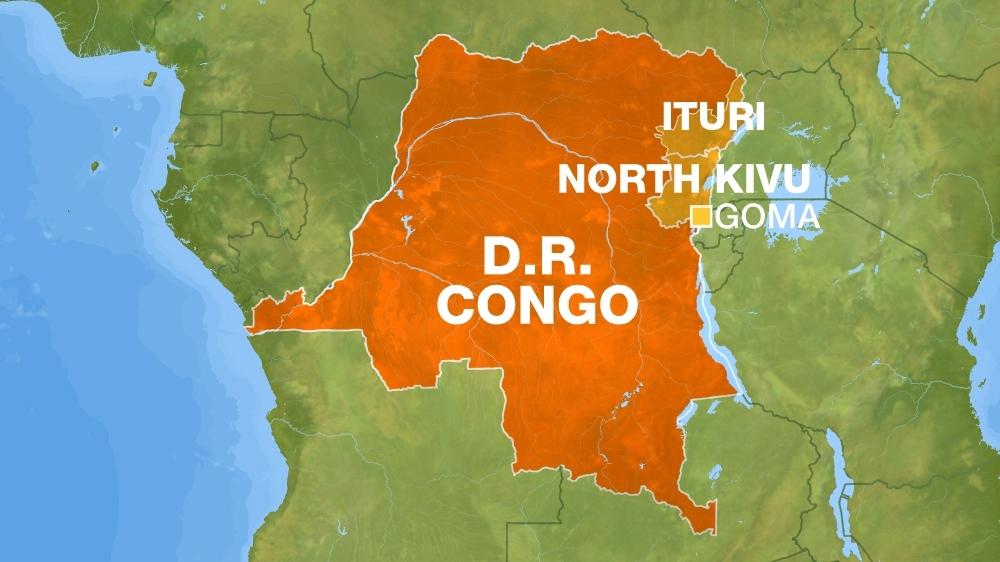 Goma map DRC