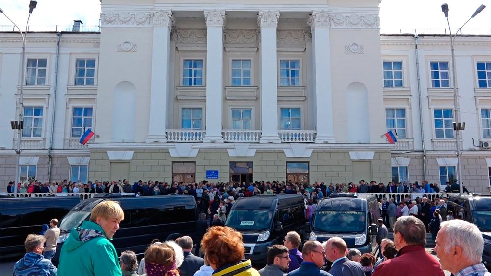 Russian village evacuation as rocket blast sparks radiation