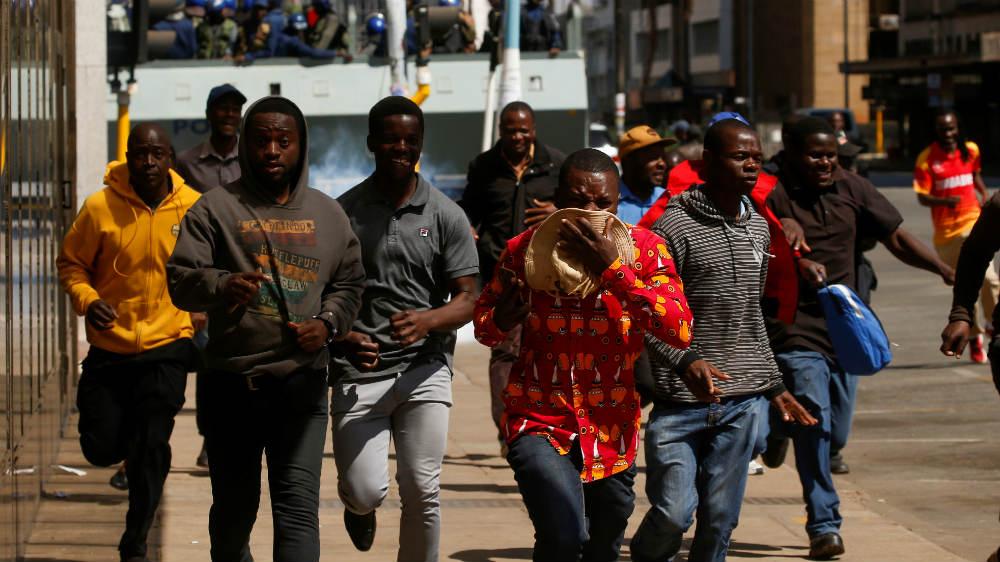 Zimbabwe protest - reuters