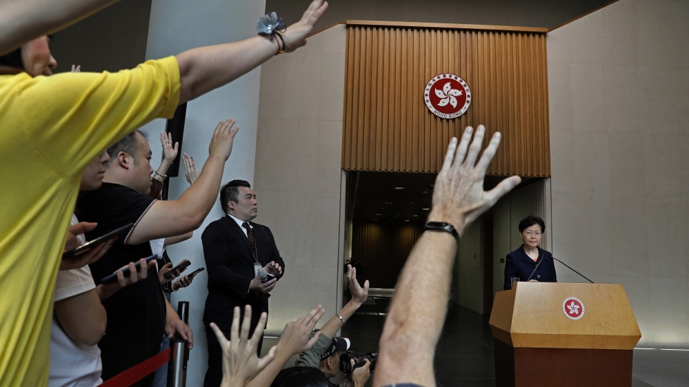 Hong Kong's Carrie Lam offers talks but shuns protesters' demands
