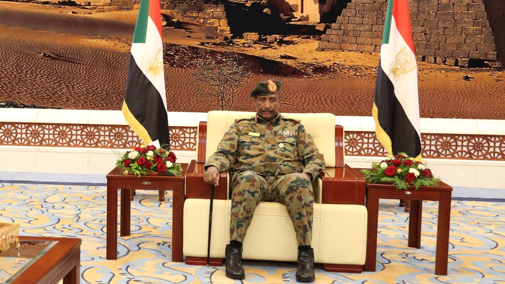 A picture released by Sudan's Presidential Palace shows General Abdel Fattah al-Burhan, the head of Sudan's ruling military council, during a swearing in ceremony in Khartoum on August 21, 2019. Burha