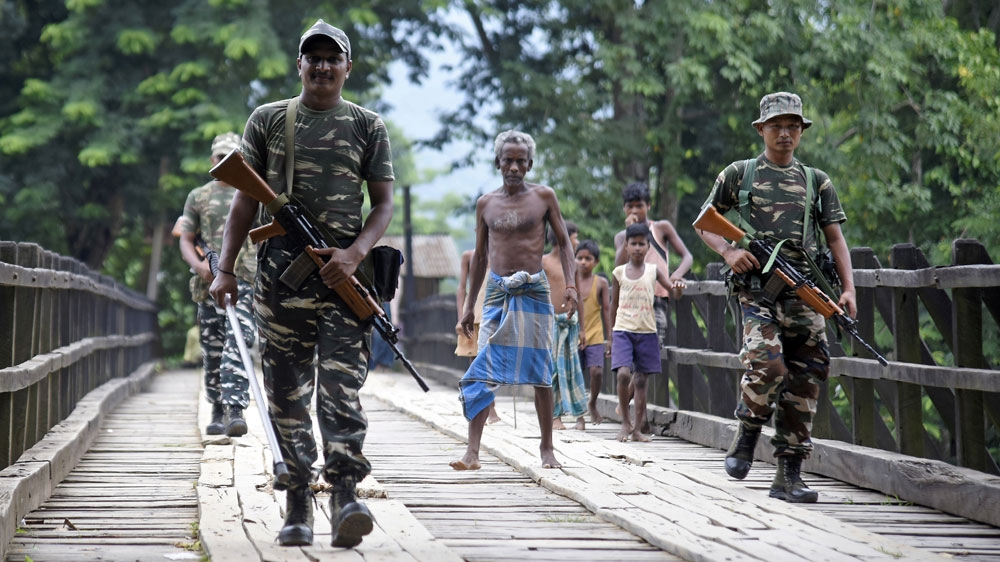 Indian security personnel, Assam