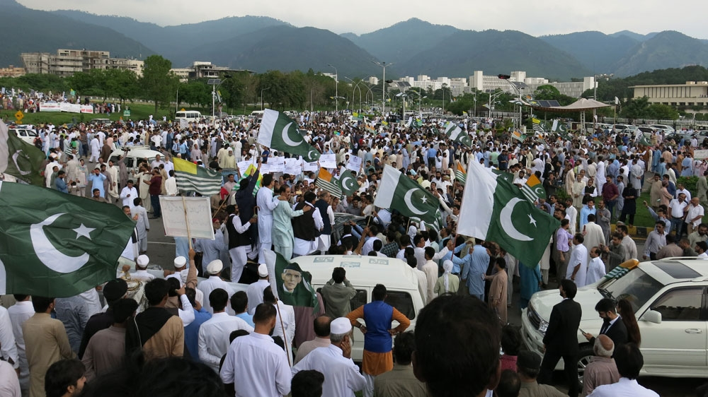 Kashmir hour protest in Pakistan