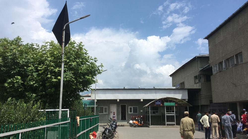 black flag at kashmir hospital in srinagar