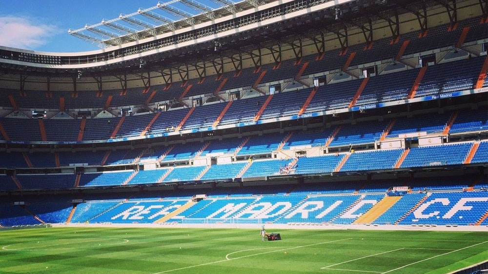 Santiago Bernabeu stadium in Madrid