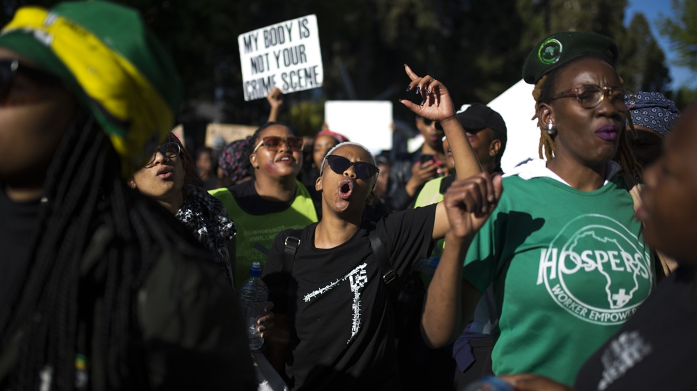South Africa: Protesters demand action on violence against women