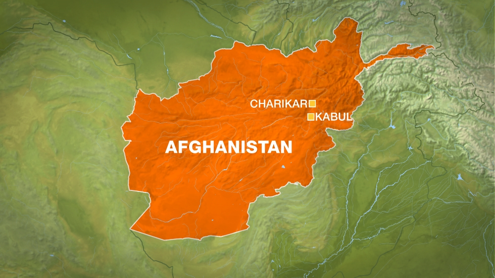 Charikar and Kabul, Afghanistan map