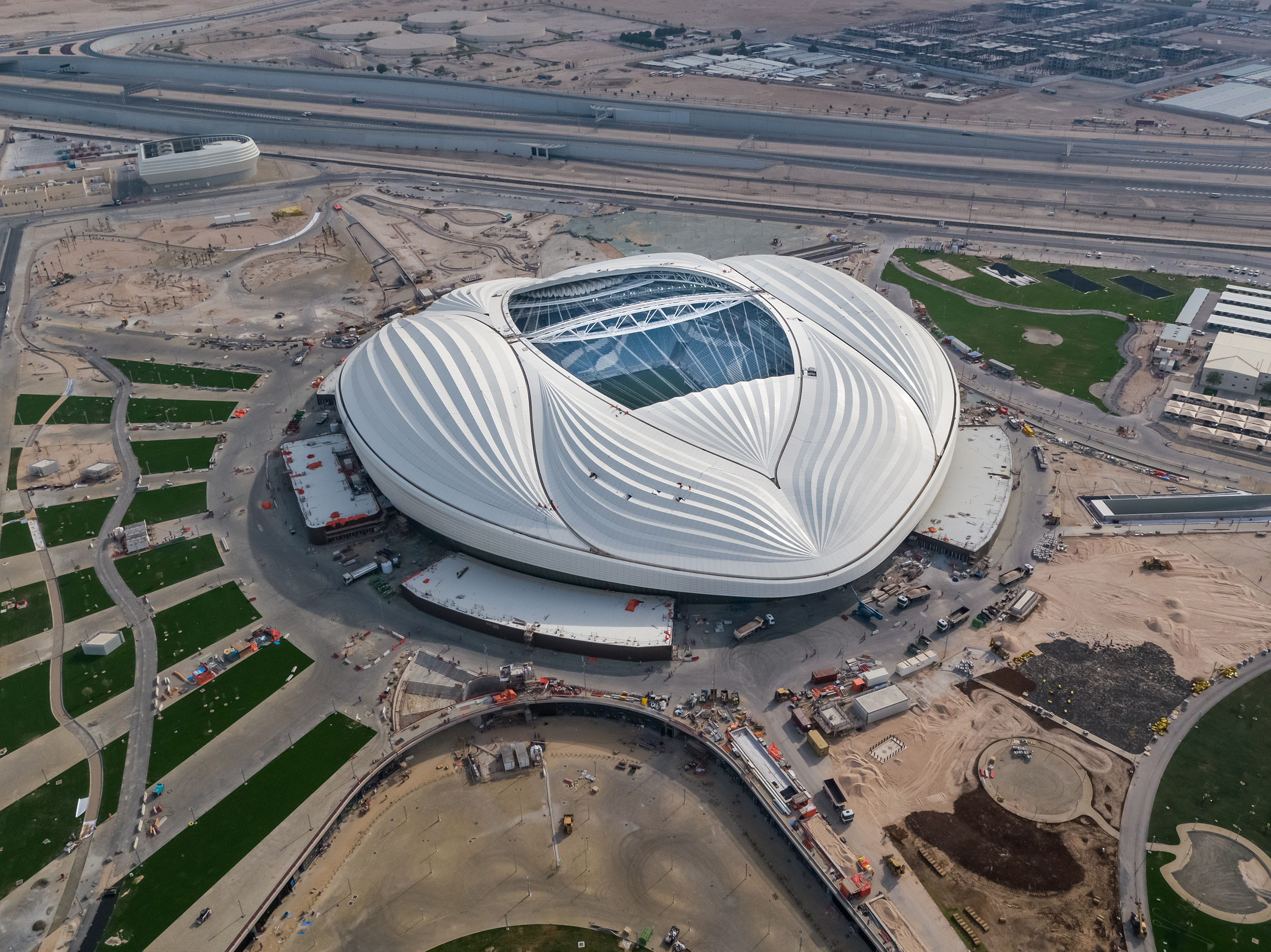 A view of the Al Wakrah stadium from outside [Supreme Committee for Delivery & Legacy]