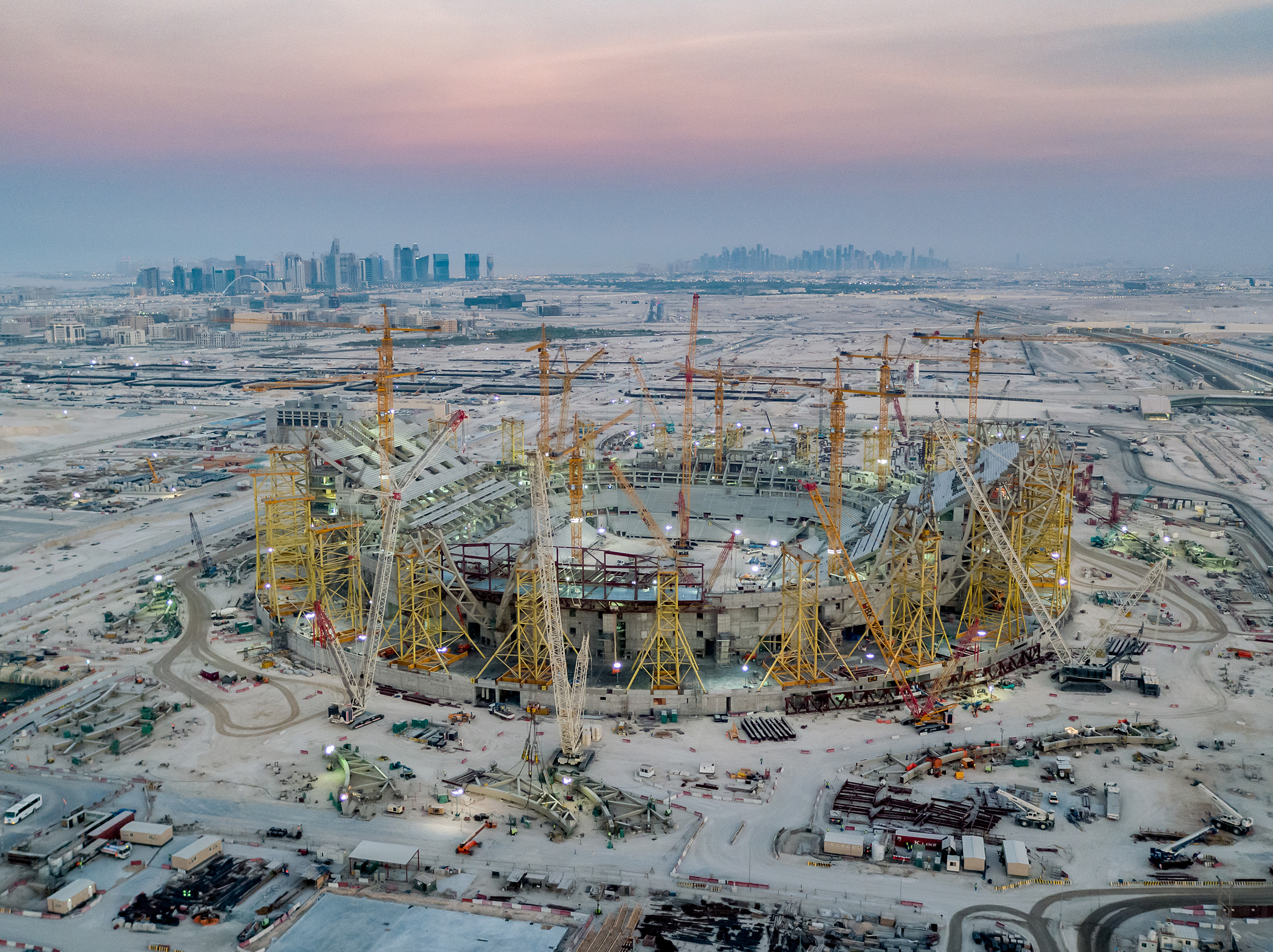 Construction under way at Lusail Stadium [Supreme Committee for Delivery & Legacy]