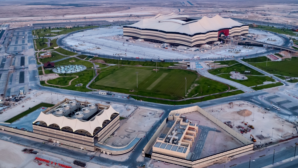 The capacity of Al Bayt stadium is about 60,000 people when it is finished [Supreme Committee for Delivery & Legacy]