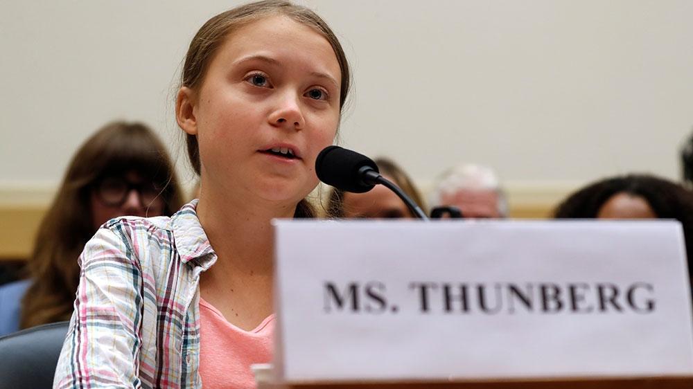 Greta Thunberg to US Congress on climate change: 'Wake up' - Al Jazeera English