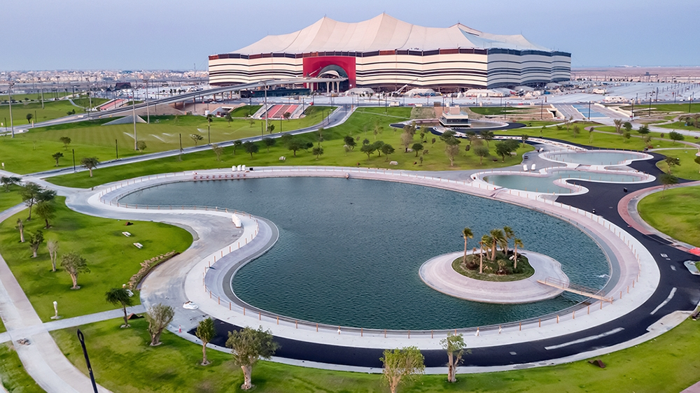 Al Bayt Stadium, which will welcome the world's best players at the FIFA World Cup Qatar 2022, is close to completion.