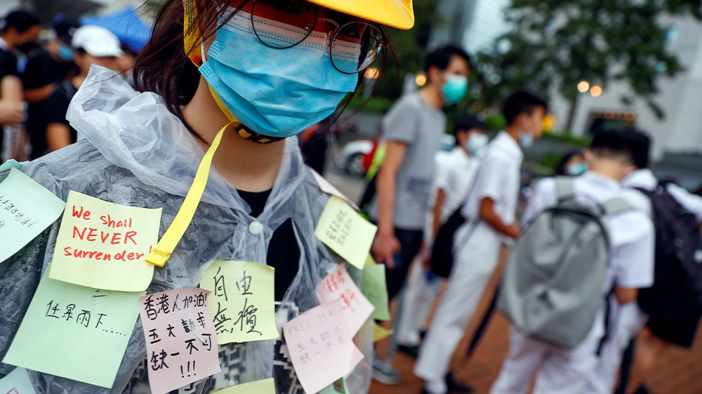 Hong Kong school protesters