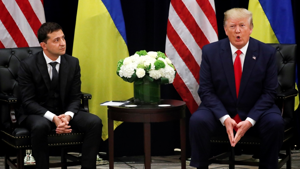U.S. President Trump meets with Ukraine's President Zelenskiy in New York City, New York