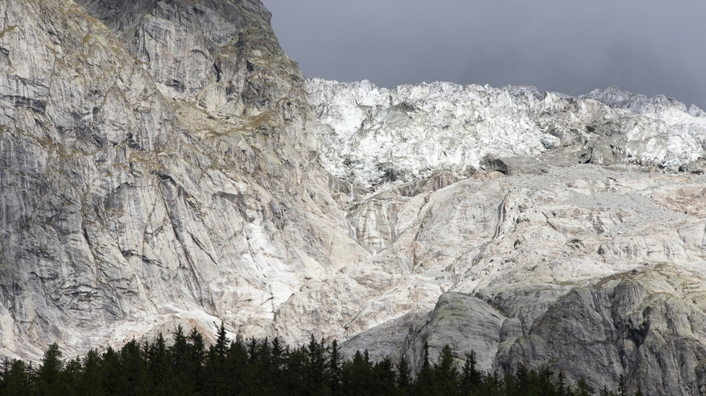 Mont Blanc Planpincieux glacier