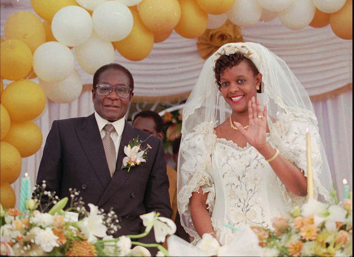 In 1996, he married Grace Marufu at the Kutama Catholic Mission. [AP Photo]