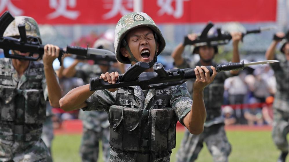 Hong Kong Chinese troops