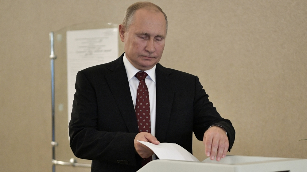 Did Russia poll indicate waning support for Putin's ruling party?